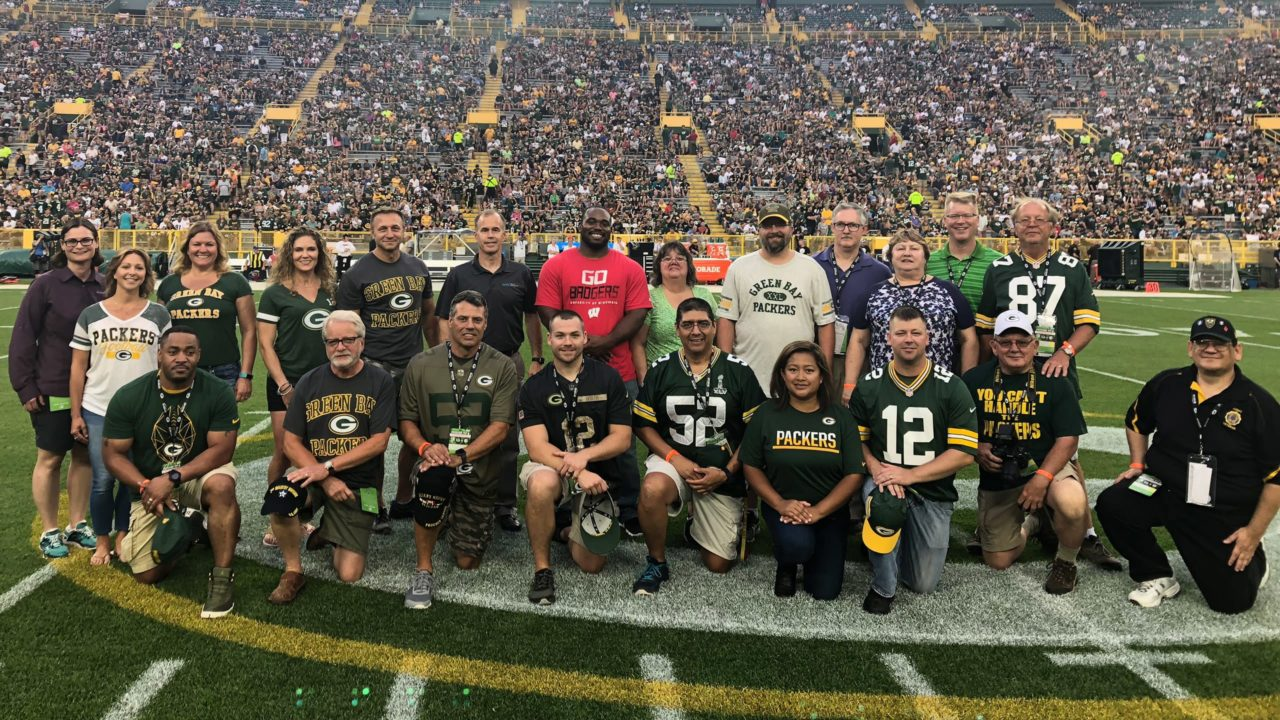 Veteran Enhancement Team Honored for Operation Fan Mail at Lambeau Field