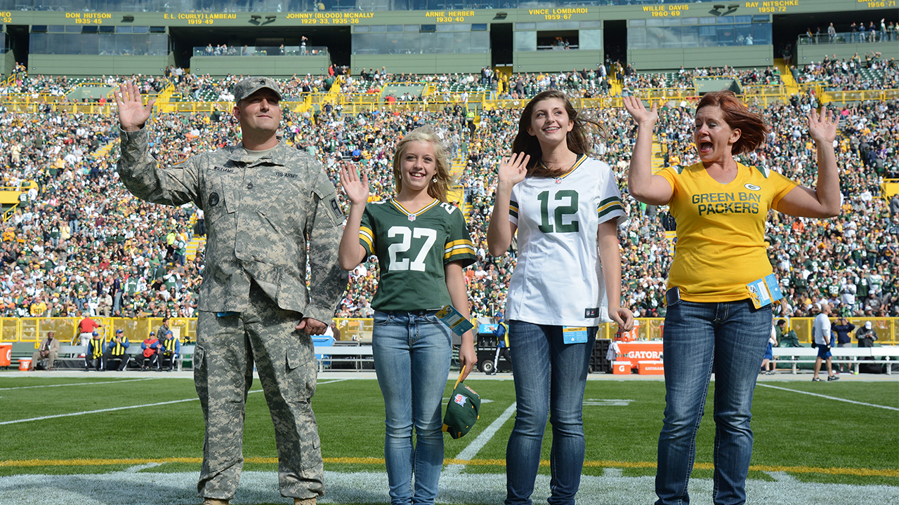 Jon Williams attended the game with his two daughters, Hannah and Kialey, and his wife, Cynthia.